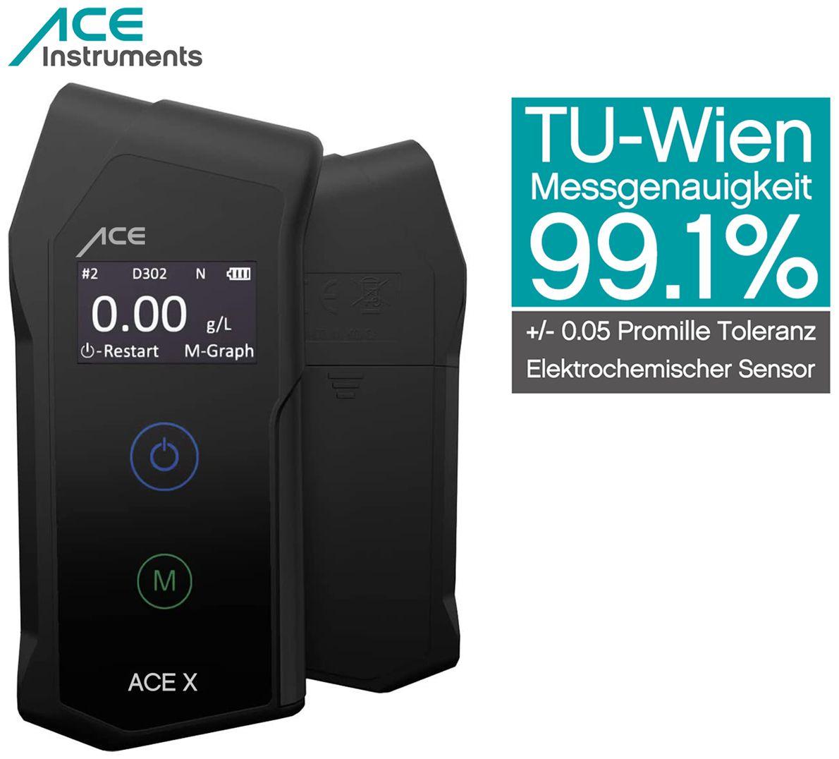 Ace X por mil-tester Breathalyser medidor de alcohol-cuchillo Francia
