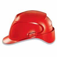 Uvex Schutzhelm airwing B mit Lüftung, Material: Polyethylen, Farbe: rot