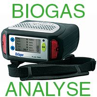 SET ♦ BIOGAS-ANALYSE ♦ Dräger X-am 7000  IR-Ex (CH4), IR-CO2, H2S (HC), O2, CO, Pumpe & Datensp.,..