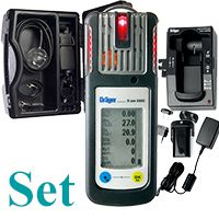 █ AKTIONS-Set Dräger X-am 5600 IR-Ex/CO2, O2, CO, H2S, Akku/Ladet., CSE-Koffer, Pumpe....