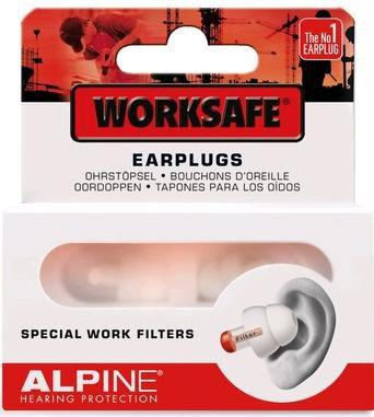 Alpine worksafe tappi per orecchie protezione udito for Tappi per orecchie antirumore per dormire in farmacia